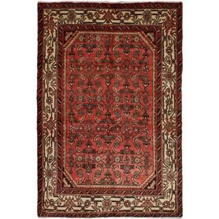 eCarpetGallery Hand-knotted Hamadan Dark Copper Wool Rug (3'6 x 5'1)