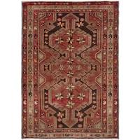 eCarpetGallery  Hand-knotted Hamadan Dark Red Wool Rug (3'6 x 5'0)