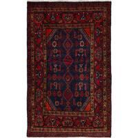 eCarpetGallery  Hand-knotted Darjazin Dark Blue, Red Wool Rug (3'7 x 5'9)