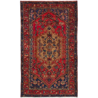 eCarpetGallery Hand-knotted Hamadan Red Wool Rug (4'2 x 7'0)