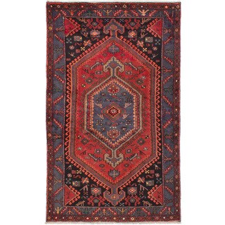 eCarpetGallery Hand-knotted Hamadan Red Wool Rug (4'1 x 6'11)