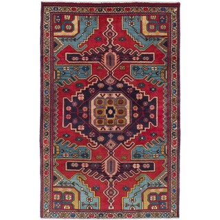 eCarpetGallery Hand-knotted Wiss Red Wool Rug (4'1 x 6'4)