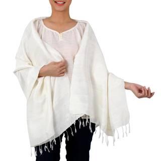 Handmade Silk 'Afternoon Breeze' Shawl (Thailand)