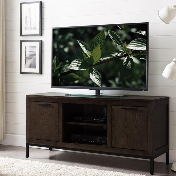 Shop Tableau Vintage Oak Wood Black Metal 56 Inch Tv Stand On