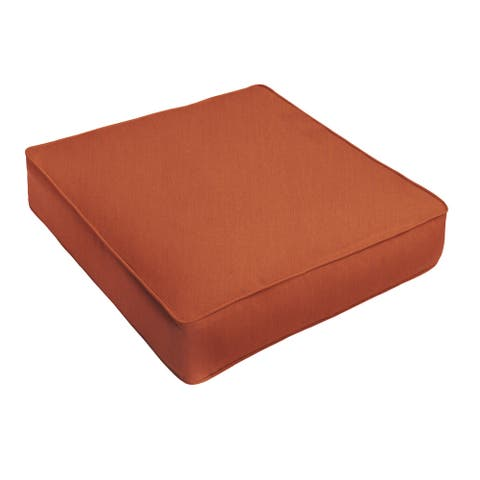 Sunbrella Rust Orange Indoor/ Outdoor Deep Seating Cushion by Humble + Haute