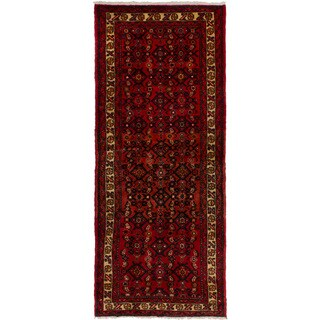 eCarpetGallery Hand-knotted Hosseinabad Red Wool Rug (2'6 x 6'1)