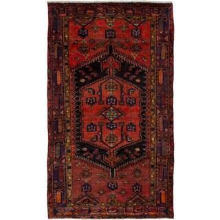 eCarpetGallery Hand-knotted Hamadan Dark Copper Wool Rug (4'2 x 7'0)