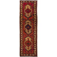 eCarpetGallery  Hand-knotted Ardabil Red Wool Rug (3'6 x 11'6)