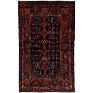 eCarpetGallery  Hand-knotted Darjazin Dark Copper, Dark Navy Wool Rug (3'9 x 6'2)
