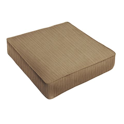 Sunbrella Textured Brown Indoor/ Outdoor Deep Seating Cushion by Humble + Haute
