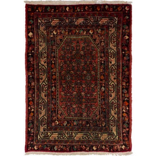 eCarpetGallery Hand-knotted Persian Vintage Dark Copper Wool Rug (3'6 x 4'10)