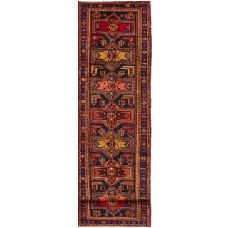 eCarpetGallery Hand-knotted Ardabil Dark Navy Wool Rug (3'7 x 14'1)