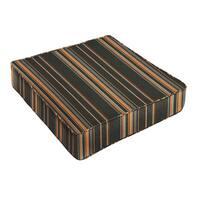 Sunbrella Grey Orange Stripe Indoor/ Outdoor Deep Seating Cushion by Humble + Haute