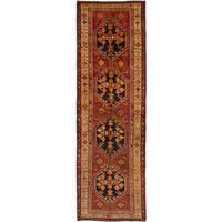 eCarpetGallery  Hand-knotted Meshkin Dark Red Wool Rug (3'7 x 11'10)