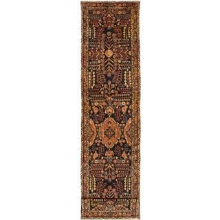 eCarpetGallery Hand-knotted Lilihan Dark Navy Wool Rug (3'1 x 14'0)
