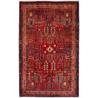 eCarpetGallery Hand-knotted Mahal Red Wool Rug (4'10 x 7'10)