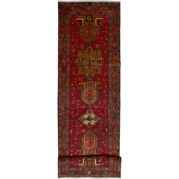 Shop Ecarpetgallery Hand Knotted Persian Kashan Red Wool: Shop ECarpetGallery Hand-knotted Persian Vintage Red Wool