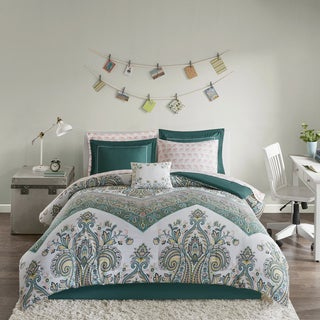 Intelligent Design Layne Teal Printed 9-piece Bed in a Bag Set (4 options available)