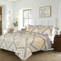 Adrien Lewis- Greer 2 Pcs Microfiber Quilt Set Twin Yellow