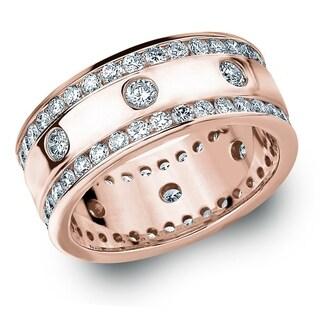 Amore 10KT Rose Gold 2CT TDW Diamond Eternity Railroad Ring