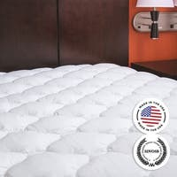Kotter Home Extra Plush Mattress Pad with Manufacturer's Defects - White