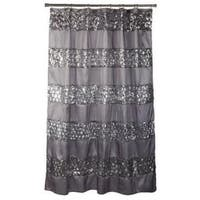 """100% Polyester Sinatra Silver"""" Shower Curtain"""