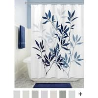 "Soft Fabric Shower Curtain, 72"" x 72"", Navy/Slate Blue"