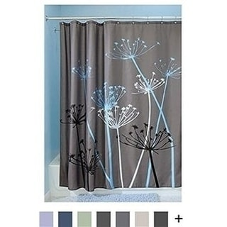 Thistle Shower Curtain, 100% polyester, Standard - Gray and Blue