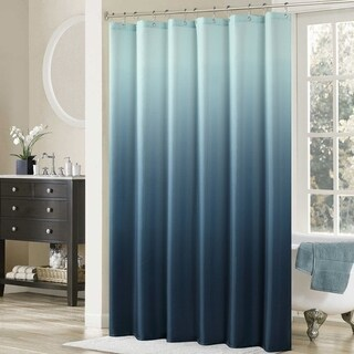 """Ombre Mildew Resistant Waterproof Polyester Shower Curtain 62""""W x 72""""H"""