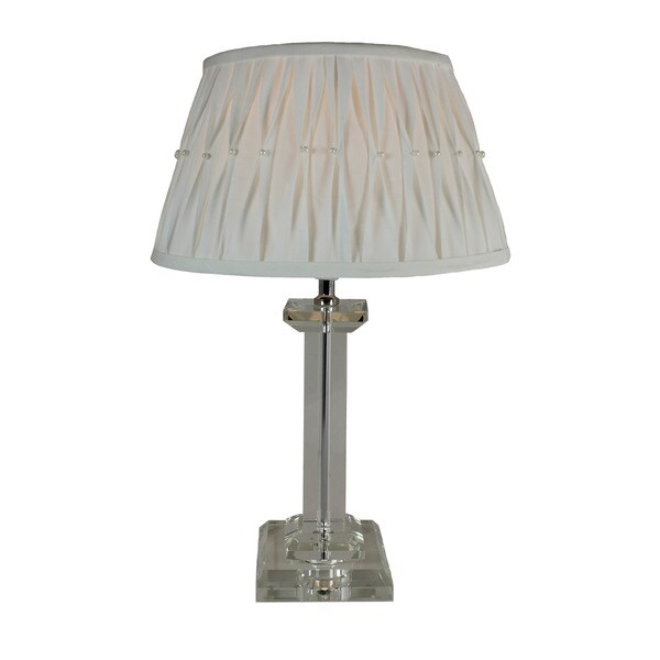 Urban Designs 18-Inch Modern Crystal Column Table Lamp