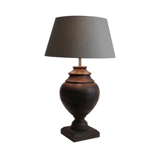 Urban Designs Milazzo 24-Inch Solid Wood Jar Table Lamp