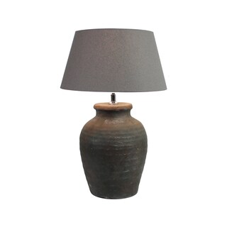 Urban Designs 22 Inch Rusted Gray Ceramic Table Lamp
