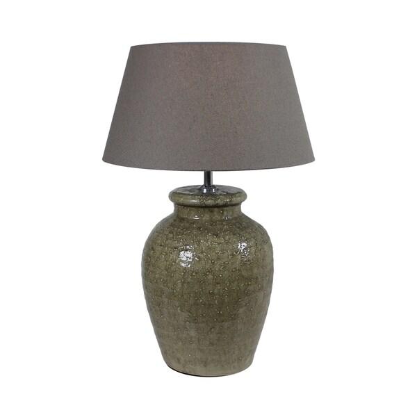 Urban Designs Paleum 22-Inch Antique Olive Ceramic Table Lamp