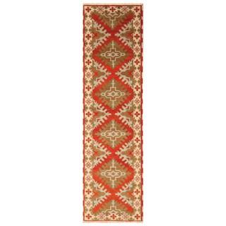 Handmade Kazak Wool Runner (India) - 2'10 x 10'