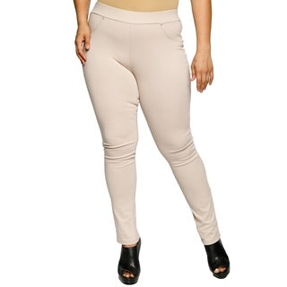 Xehar Womens Plus Size Casual Skinny Stretch Leg Pants