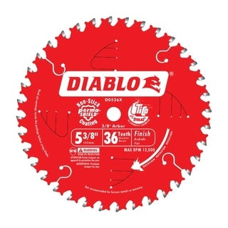 Freud Diablo 5-3/8 in. Dia. 36 teeth Carbide Tip Metal Circular Saw Blade For Cutting Wood