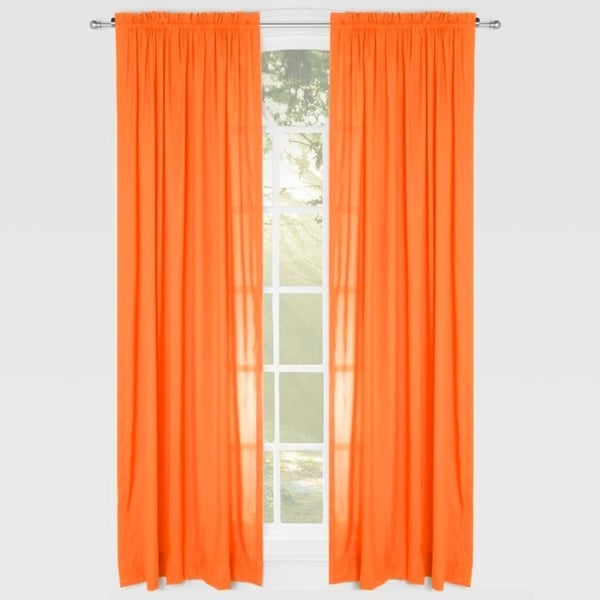 Learning Linens Solid Color 84-inch Microfiber Rod Pocket Curtain. Opens flyout.