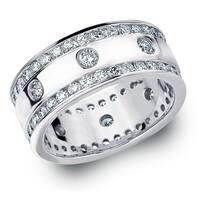 Amore Platinum 2CT TDW Diamond Eternity Railroad Ring