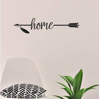 Home with Arrow Vinyl Wall Decal Wall Decor