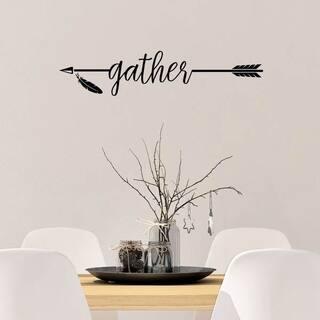 Gather with Arrow Vinyl Wall Decal Wall Decor