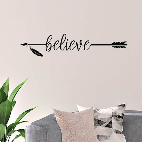 Believe with Arrow Vinyl Wall Decal Wall Decor