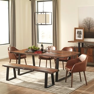 Modern Artistic Wavy Edge Designed Dining Set with Danish Style Upholstered Chairs