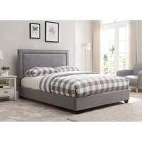 Baffin, Grey Linen Platform Bed