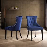 Monaco Tufted Back Upholstered Nail Head Chair