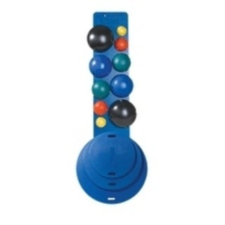 CanDo® MVP® Balance System - 10-Ball Set with Wall Rack (2 each: yellow, red, green, blue, black)
