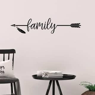 Family with Arrow Vinyl Wall Decal Wall Décor
