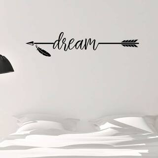 Dream with Arrow Vinyl Wall Decal Wall Decor