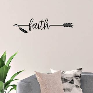 Faith with Arrow Vinyl Wall Decal Wall Decor