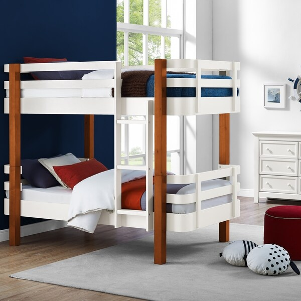 Avenue Greene Annapolis White Rounded Corner Bunk Bed