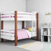 Novogratz Birdie Dark Pine and White Bunk Bed